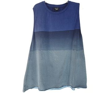 22 City Chic Blue Striped Sleeveless Tunic Top